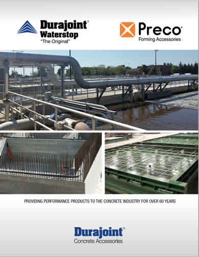 Durajoint Waterstop and Preco Forming Products pdf Catalog